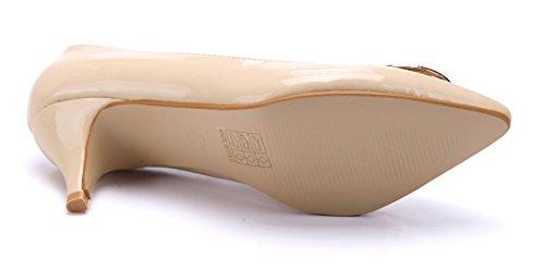 Schuhtempel24 Damen Schuhe Klassische Pumps Stiletto 6 cm Beige