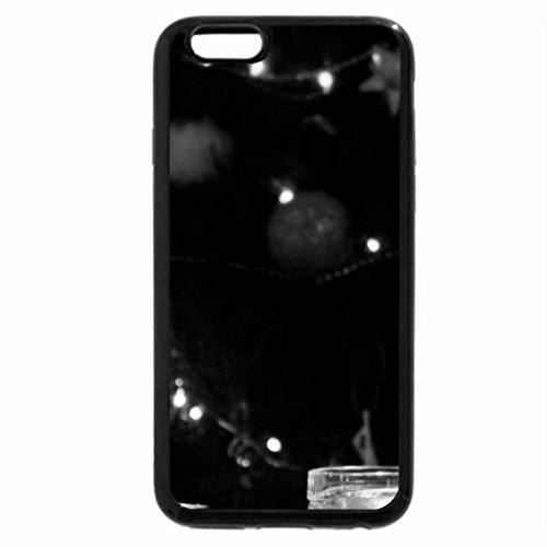 iPhone 6S Case, iPhone 6 Case (Black & White) - Christmas corner beach