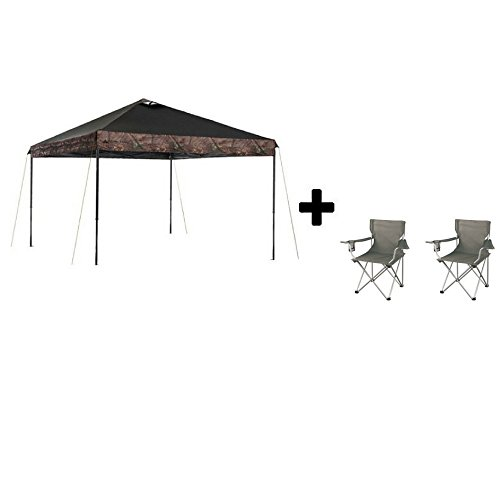 Ozark Trail* Instant Canopy (10' x 10', Realtree Xtra with Camping Armchairs)