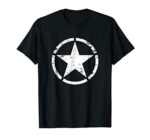 WW2 D-Day Invasion Circle Star Allied Military T-Shirt