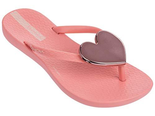 Ipanema Wave Heart Kids' Flip Flops, Pink/Pink/Rose (2/3 US)