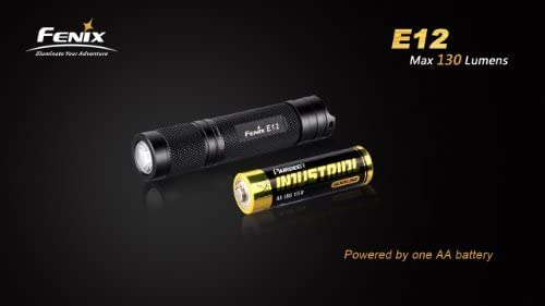 Fenix E12 XP-E2 Mini Pocket LED Light with AA Battery and a Blue Keychain Light – 130 Lumens