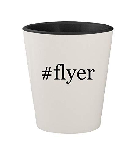 #flyer - Ceramic Hashtag White Outer & Black Inner 1.5oz Shot Glass