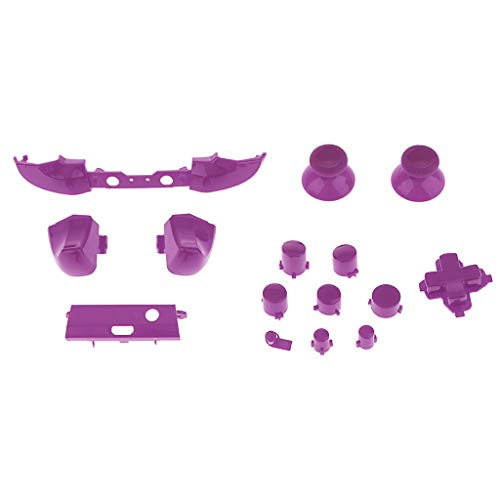 Price comparison product image gazechimp Thumbstick Analog Stick ABXY Buttons Repair for Xbox One S Controller - Purple
