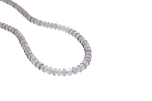 - Amethyst smooth Rondelle Purple Beads Gemstone 7 to 8mm AA Necklace