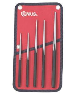 Genius Tool 5 Piece Long Taper Line Up Punch Set GNSPC565LU