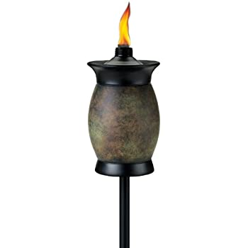 TIKI Brand 64 Inch Resin Jar Torch 4 In 1 Stone Color