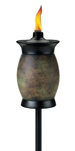 TIKI Brand 64-Inch 4-in-1 Resin Jar Torch, Stone