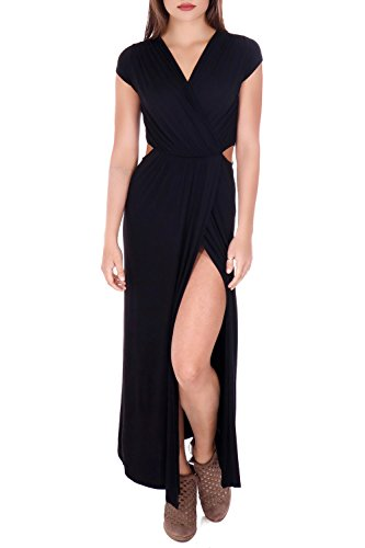 black dress with cutout sleeves - 5