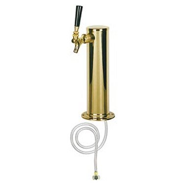 Kegco D4743T-PVD Polished PVD Brass 1-Faucet Draft Beer Kegerator Tower - 3
