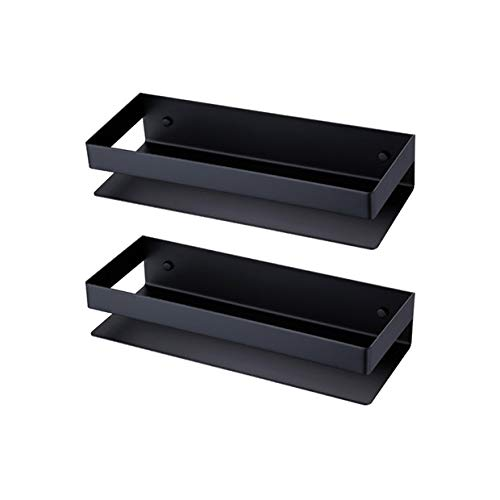 Kes Bathroom Shelf Stainless Steel Bath Shower Shelf Basket Caddy RUSTPROOF Square Modern Style Wall Mounted Matte Black 2 PCS, ()