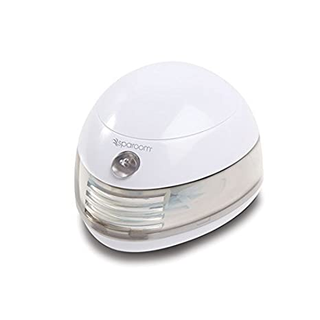 SpaRoom Aromafier Portable Fragrance Essential Oil Diffuser, Battery And USB Computer Powered Aromatherapy, White Gluten Free Palace - HPC 852030004288