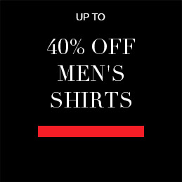 Up to 40% off Men's Shirts