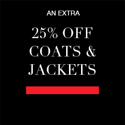 An Extra 25% off Coats & Jackets