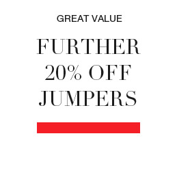 Further 20% off jumpers and  cardigans