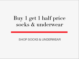 Buy 1 get 1 half price socks and underwear