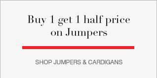 Buy 1 get 1 half price on Jumpers