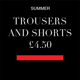 Further 20% off trousers and shorts