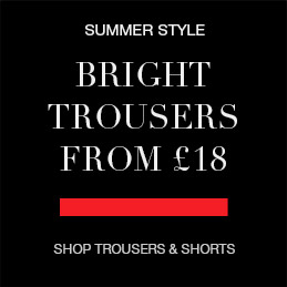 Bright trousers from £18