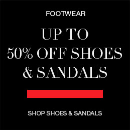 up to 50% off shoes and sandals