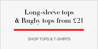 Long-sleeve tops and rugby tops from £21