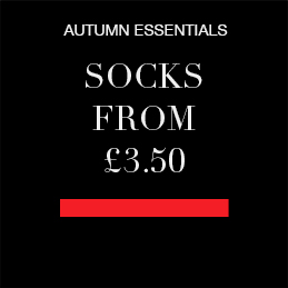 Autumn essentials Socks from £3.50