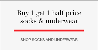 buy 1 get 1 half price socks & underwear