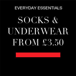 SOCKS & UNDERWEAR FROM £3.50