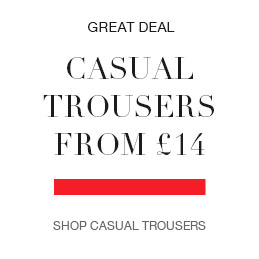 casual trousers from £14