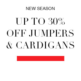NEW SEASON Up to 30% off Jumpers & Cardigans