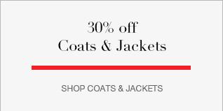30% Off Coats & Jackets