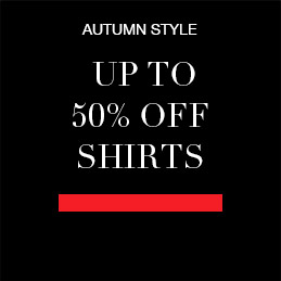 AUTUMN STYLE up to 50% off shirts