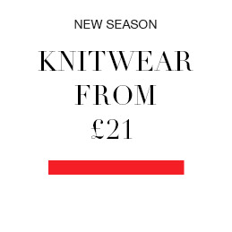 NEW SEASON knitwear from £21