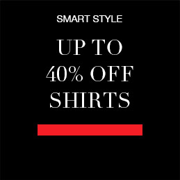 Up to 40% off Shirts