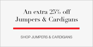 An Extra 25% off Jumpers & Cardigans