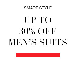 up to 30% off mens suits