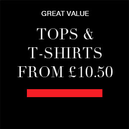 Tops and tshirts from £10.50