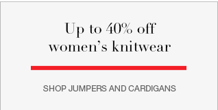 NEW  IN Up to 40% off women's knitwear