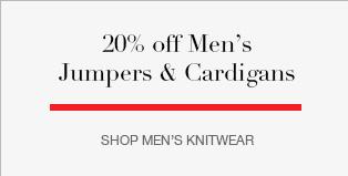 20% off Men's Jumpers & Cardigans