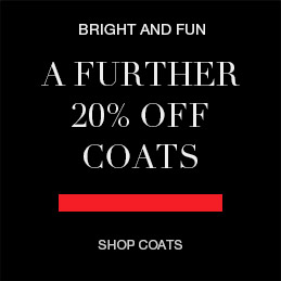 A further 20% off coats