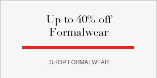 Up to 40% off formalwear