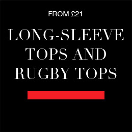 from £21 Long-sleeve tops and Rugby tops