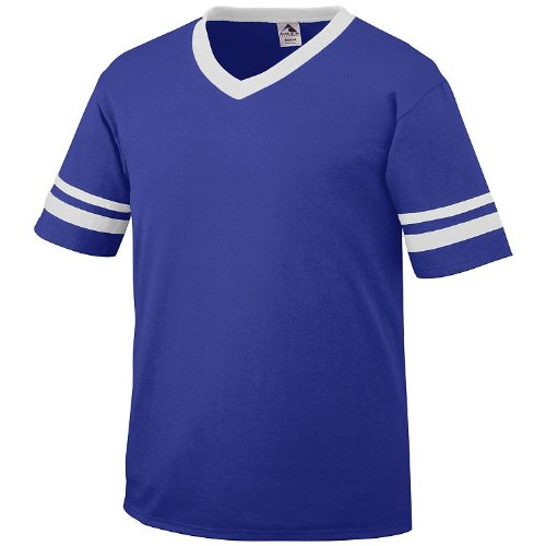 Amazon.com : Poly/Cotton Athletic Sports Striped Sleeve Jersey ...