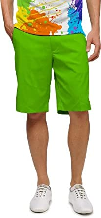 Amazon.com: Loudmouth Golf Mens Shorts: Element Jasmine Green ...