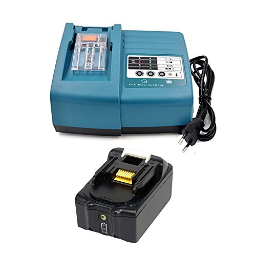 18 V 4.0Ah Battery Charge Indicator & Charger Cordless Drill Battery for MAKITA IMPACT DRILL 18 Volt DHP459RTJ DHP459RMJ DHP459Y1J DHP453 DHP453RF