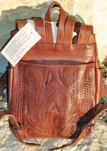 Amazon.com: Brown Cowgirl Backpack Purse Natural Western Tooled ...