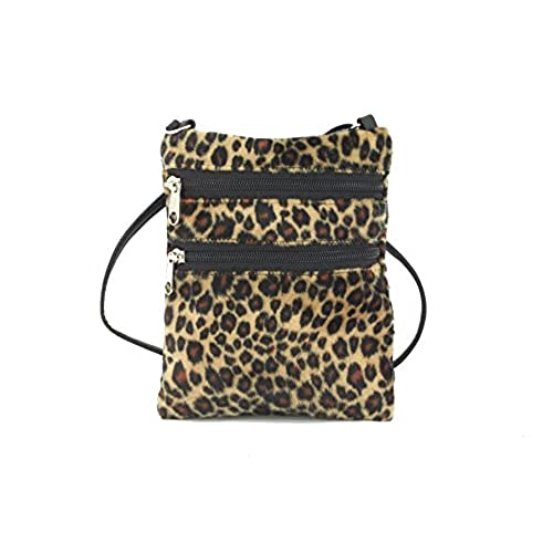 Loni Womens Funky Small Flat Shoulder Bag/Cross-Body Bag Animal ...