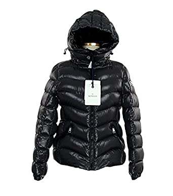 Moncler Anthia Giubbotto Shiny Hooded Down Puffer Coat in Charcoal Size 1 New With Tags