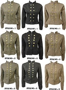 Xclusive Collection New Ladies Military Button Double Breasted