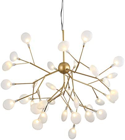 Dellemade DD00892 Sputnik Chandelier Mid Century 12 Light Golden Pendant Light